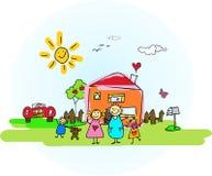 Sunny Familiyday Stock Photo