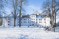 A sunny February day at the ancient castle of Abo. Turku, Finland stock photography