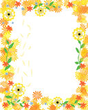 Sunny floral frame Stock Photo