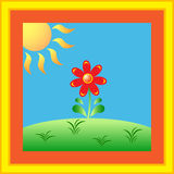 Sunny Flower GardenVector Photo stock