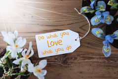 Sunny Flowers, Label, Quote Do What You Love