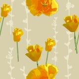 Sunny flowers pattern Stock Photo