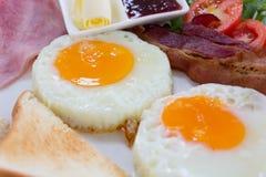 Sunny fried egg breakfast Royalty Free Stock Photo