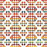 Sunny geometric seamless pattern Stock Photos