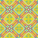 Sunny geometrical seamless pattern in the Bulgarian style.  Royalty Free Stock Image