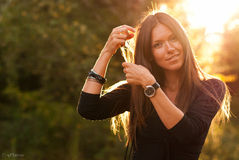 Sunny girl Stock Image