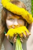 Sunny girl in diadem royalty free stock image
