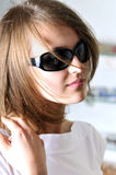 Sunny glasses. Beauty woman in sun - glasses Stock Images