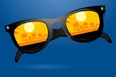 Sunny goggle. Illustration of  sunny goggle on white background Stock Photography