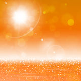 Sunny Golden Bokeh Lights Royalty Free Stock Images