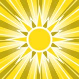 Sunny Golden Sun Glowing Sunrise stock illustratie