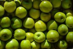 Sunny Granny Smith - maçãs verdes fotografia de stock royalty free