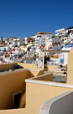 Sunny Greek Island Village Royalty Free Stock Photos