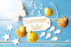 Sunny Greeting Card With Text Summer Sale Stock Photos
