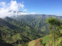 Sunny Haitian Mountain Valley royalty free stock photo