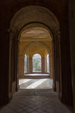 Sunny hall in the old castle Royalty Free Stock Photo