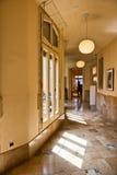 Sunny Hallway Inside Casa Mila Barcelona, Spanien Royaltyfri Bild