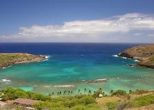 Sunny Hanauma Bay in Hawaii stock photos
