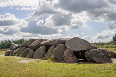 Sunny HDR of megalithic stones in Holland Stock Photography