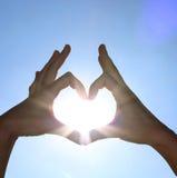 Sunny heart stock photo