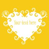 Sunny heart banner. Stock Photography