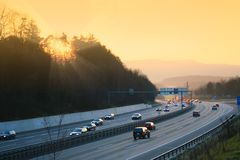 Sunny highway Royalty Free Stock Photography