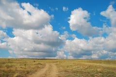 Sunny hill. In Dobrogea, Romania Stock Photo