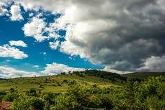 Sunny hill Stock Photo