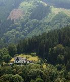 Sunny hill scenery in Thuringia Royalty Free Stock Image