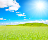 Sunny hills of forever Royalty Free Stock Photo