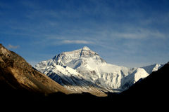 Sunny Himalayas Everest moutain Stock Photo
