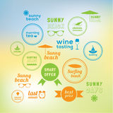 Sunny holiday! 16 creative marks Stock Photo