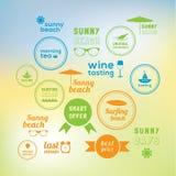Sunny holiday! 16 creative marks Stock Photo