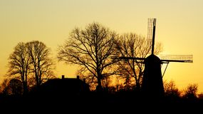 Sunny Holland. A windmill in Holland royalty free stock image