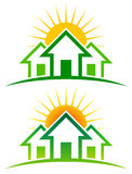Sunny Home Logo royalty free illustration