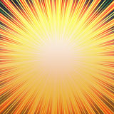 Sunny Hot Burst. Yellow, orange and black bright burst of rays with lots of copyspace in the middle makes  a vivid background design Stock Image
