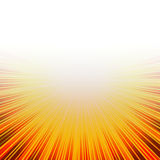 Sunny Hot Burst. Yellow and orange bright burst of rays with lots of white copyspace makes a vivid background design Royalty Free Stock Photos