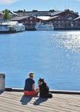 Wonderful june day in Luleå Stock Photo