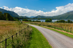 Sunny Irish countryside. Countryside view in Killarney National Park Kerry Ireland Stock Images