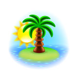 Sunny island icon  on white vector Stock Image