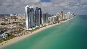 Sunny Isles Beach aerial video footage stock footage