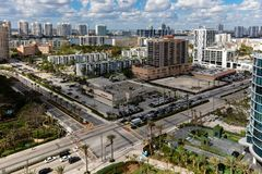 Sunny Isles Beach city. City of Sunny Isles Beach, located on a barrier island in northeast Miami-Dade County, Florida, United States, bounded by the Atlantic Stock Images