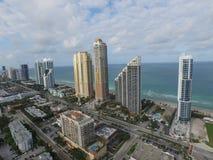 Sunny Isles Beach FL. Aerial image Sunny Isles Beach Florida USA buildings Stock Images