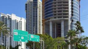 Sunny Isles Beach FL 4k. 4k uhd video of Sunny Isles Beach FL highrise architecture stock video footage