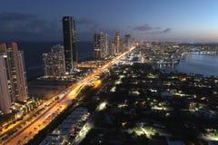 Sunny Isles Beach Florida. Aerial photo of Sunny Isles Beach FL Stock Photos
