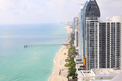 Sunny Isles Beach Miami. Ocean front residences. Stock Images