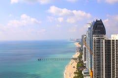 Sunny Isles Beach Miami. Ocean front residences. Royalty Free Stock Photos