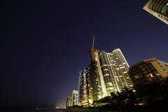 Sunny Isles Beach night with stars Stock Image