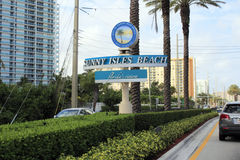 Sunny Isles Beach Sign Images stock