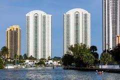 Sunny Isles Beach-Stadt, Florida Stockfotografie